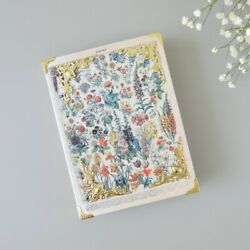 Handmade Book Binding Antique Vintage Concept Craft Paper Botanical Diary Note