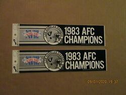 Nfl Los Angeles Raiders Vintage Lot Of 2 1983 Afc Champions Bumper Stickers