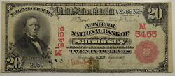 1902 20 Red Seal Chtr 6455 Commercial Nb Of Sandusky Oh Rare Pop 2 Only 20
