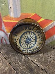 Vintage C. 1890 Standard Oil Company Mica Axle Grease Pound Can Gas Sign Indiana