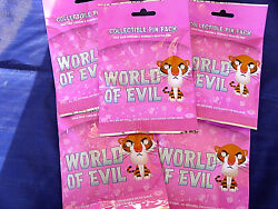 Disney World Of Evil 5 Packs New 5-pin Collectible Mystery Pack Pins