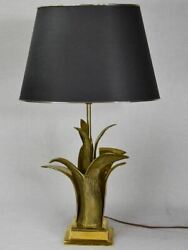 Superb Bronze Table Lamp With Gold Foliage