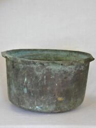 Large 19th Century French Copper Planter From A Winery In Burgundy