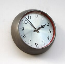 British 50s Synchronome Midcentury Vintage Industrial Factory Office Wall Clock
