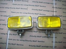 1970and039s Wallfrin B77 Yellow Rectangle Fog Lamps 4x4 Datsun Toyota Ford Chevy 1960