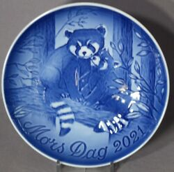 Bing And Grondahl 2021 Motherandrsquos Day Plate Bandg Red Panda And Cub - New In Box