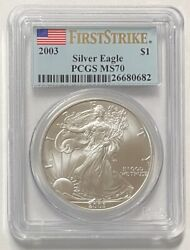 2003 1 Silver Eagle Pcgs Ms70 First Strike