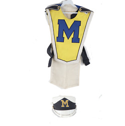 Vintage 70s University Of Michigan Marching Band Uniform Jacket With Hat Cap