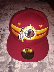New Washington Redskins Official 2019 Draft 59fifty Fitted 7 1/8 Hat City Flag
