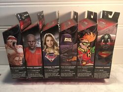 Dc Multiverse 6 Wave 3 And 4 Complete Action Figure Set W/baf New 52 Doomsday