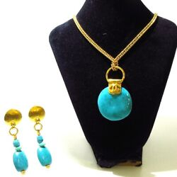 Auth Gold Lightgreen Hardware Color Stone Other Jewellery