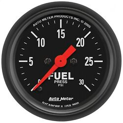 Autometer 2660 Z-series Electric Fuel Pressure Gauge W/ Fluorescent Red Pointer