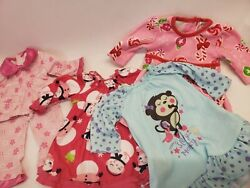 Lot of 18quot; Doll Pajamas Clothes. Over Night Gown Fleece E6 $25.00