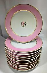 12 Rare Flight Barr And Barr Worcester Dinner Plates 1808 By William Billingsley