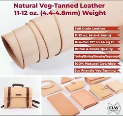 Elw 8-10 Ft Vegatable Tanned Leather 11-12 Oz 4.4-4.8mm Thickness Pre-cut...