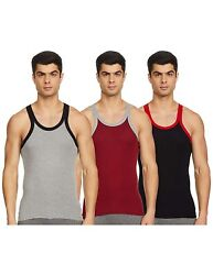 Menand039s Cotton Vest Innerwear Sportswear Multicolor Assorted Pack Of 3