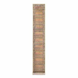 2and0394x16and039 Colorful Wool And Sari Silk Saroogh Hand Knotted Rug R62336