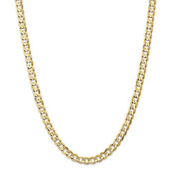 14k Yellow Gold 6.75mm Open Concave Curb Chain Necklace Or Bracelet Lcr180