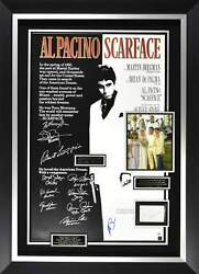 Scarface Cast Signed Display