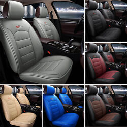 Universal Auto Car Suv Design 5-seat Pu Leather Seat Covers Cushion Front+rear