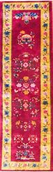 Antique Art Deco Runner2and0395 X 8and0396 Chinese Oriental Rug 17137