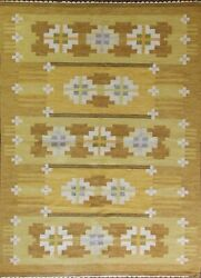 Swedish Flat-weave Carpet 5and0395 X 7and0398 20th Century 17239