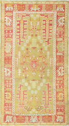 Antique Turkish Ghiordes Oushak Rug3and0392 X 5and0398 16563