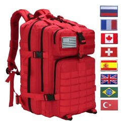 45l Molle Outdoor Military Tactical Bag Camping Hiking Trekking Backpack
