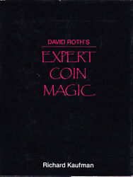 David Roth's Expert Coin Magic Book-1st Ed-coins Cards Close-up Stage Illusion