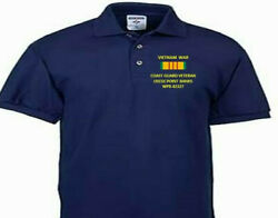 Vietnam Uscgc Point Banks Wpb-82327 Embroidered Polo Shirt/sweat/jacket.