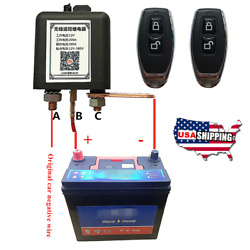 Wireless Remote 12v Car Hot Rod Battery Disconnect Relay Master Kill Switch Usa