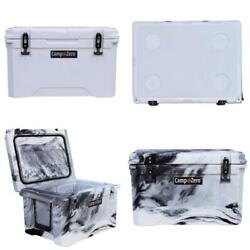 40-quart Camping Hard Cooler Ice Chest Bear Resistant 4-cup Holder Bpa-free New