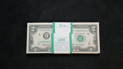 100 Consecutive 2003a Two Dollar Fed Reserve 2 Bills Choice Unc Buy It Now
