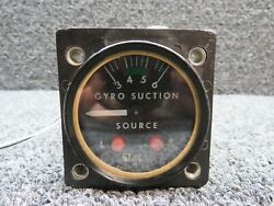 1g9-32 Airborne Gyro Suction Gauge W/ Lighted Display Volts 27