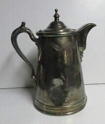 Antique Rogers Smith Co. Pewter Water Pitcher Patent June 8 1858  35