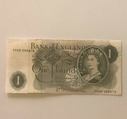 1960 - 1961 Bank Of England One 1 Pound Note Banknote