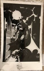 The Batman Giclée Signed And Sketched By Jim Lee New 100 Of 100 Made
