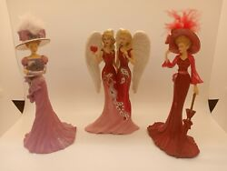 3 Thomas Kinkade Fine Adult Collectibles Figurines 2014, 2014 And 2013