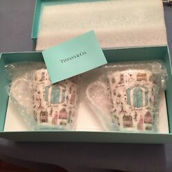 And Co 5th Avenue Bone China Mugs 2 Pcs In Gift Box Brand New Mnt Retired