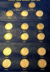 1883 With Cents 1884 1885 1886 1894 1912-s Liberty Nickel Collection Complete