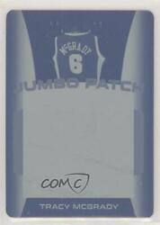 2018 Leaf Itg Used Sports Jumbo Patch Printing Plate Cyan 1/1 Tracy Mcgrady