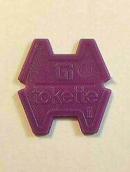 Gi Tokette Laundry Tokens - Purple Type 3 - 25 To 1000 Free🍁canadian🍁shipping