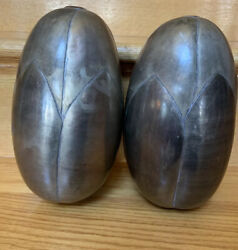 Decorative Set Of 2 Aluminum Or Other Metal Pods