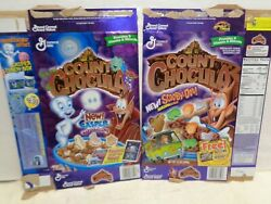 2 Vintage Count Chocula Cereal Boxes Scooby Doo Marshmallows Casper Old Empty