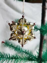 Vintage Christmas Ornament Beaded Mercury Glass Early Collectible