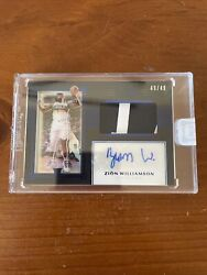 2019-20 Panini One And One Blue Zion Williamson Rpa Rc Rookie Patch Auto 49/49