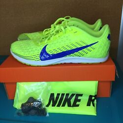 Nike Zoom Rival Xc Volt/blue Mens 8.5 Track Shoes W/ Spikes And Tool Aj0851-700