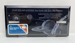 Rare Vintage Sterling 562 Educator Pencil Case Box Our Solar System New Sealed