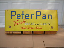 Rare Vintage Peter Pan 1950's Paper Bag Holder Sign Country Store Display Super
