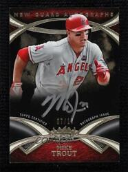 2014 Topps Tier One New Guard Silver Ink /10 Mike Trout Nga-mt Auto